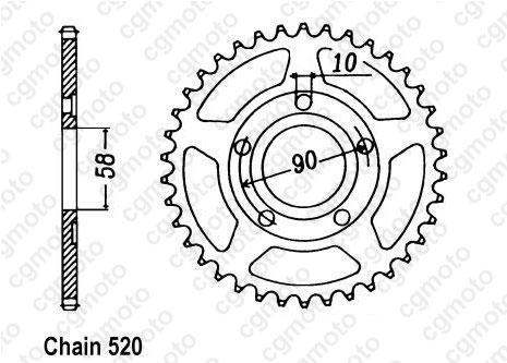 Kit chaîne moto pour HONDA NSR 125 R JC22 2002