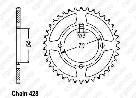 Kit chaîne moto pour HONDA CBR 125 R JC34 2008