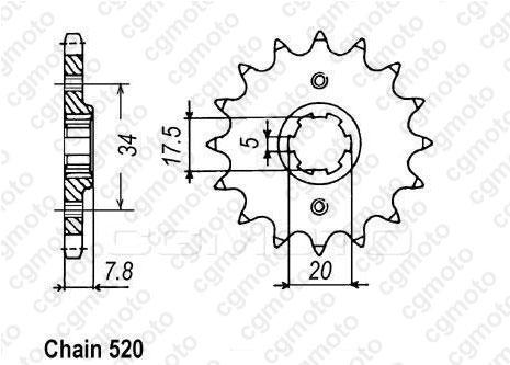 Kit chaîne moto pour HONDA CRM 125 R JD13 2000
