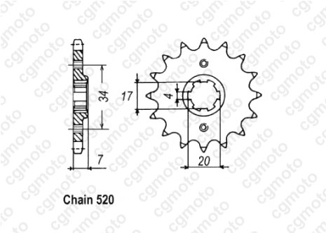 Kit chaîne moto pour HONDA MTX 200 RW MD07 1985