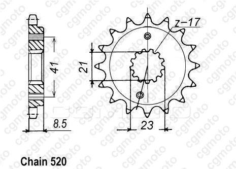 Kit chaîne quad pour HONDA TRX 400 EX SPORTRAX 2004