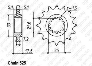 Kit chaîne moto pour HONDA CB 500 S/N PC32 1999