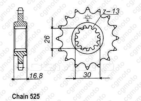 Kit chaîne moto pour HONDA CB 600 F HORNET PC41 2011