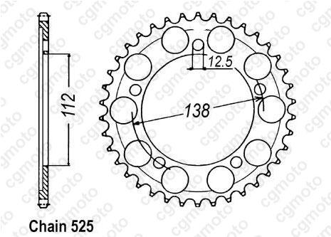 Kit chaîne moto pour HONDA CB 600 F HORNET PC41 2009