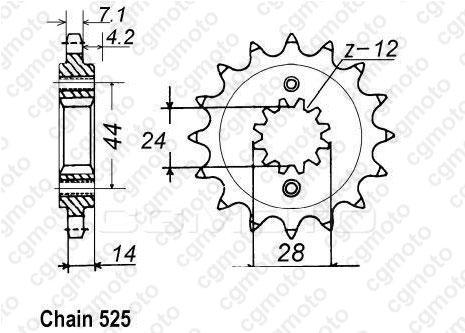 Kit chaîne moto pour HONDA VT 750 C SHADOW RC44 1998