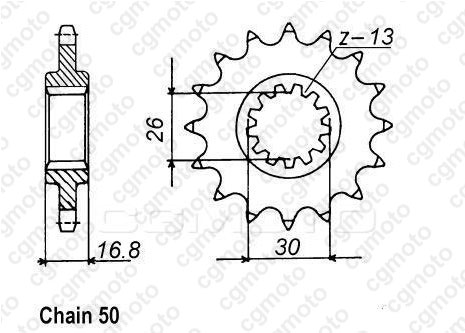 Kit chaîne moto pour HONDA VTR 1000 F FIRESTORM SC36 1997