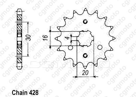 Kit chaîne moto pour KAWASAKI BN 125 ELIMINATOR A1 A2 1998