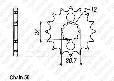 Kit chaîne moto pour KAWASAKI ZZR 1100 ZX-11 D3-D9 1999
