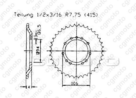 Kit chaîne moto pour KTM SX 50 PRO SENIOR-LC CROSS 2002