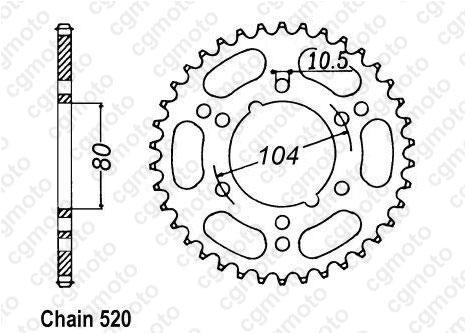 Kit chaîne quad pour POLARIS TRAIL BLAZER 250 (4X2