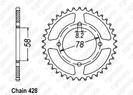 Kit chaîne moto pour SUZUKI RV 125 VAN VAN RV125 1977