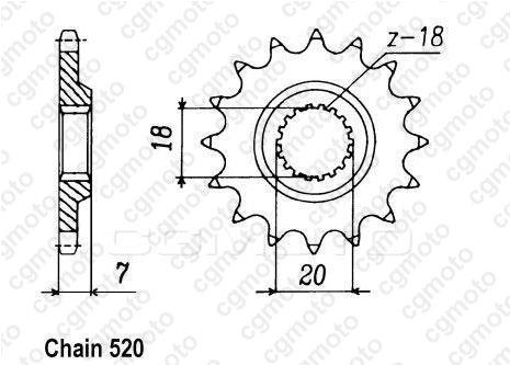 Kit chaîne moto pour SUZUKI RM 125 K6-K7-K8-K9-L0-L1 2008