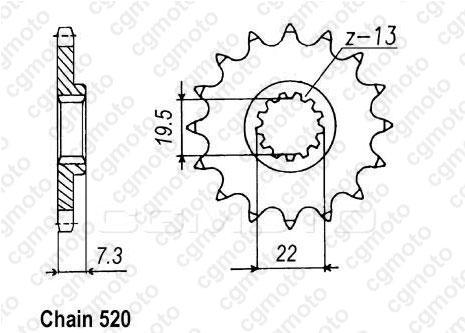 Kit chaîne moto pour SUZUKI DR 250 S SJ42A 1984