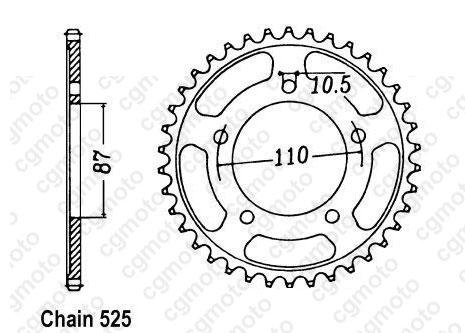 Kit chaîne moto pour SUZUKI SV 650 N JS1AV 2000