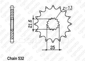 Kit chaîne moto pour SUZUKI GSX-R 1100 GV73C 1990