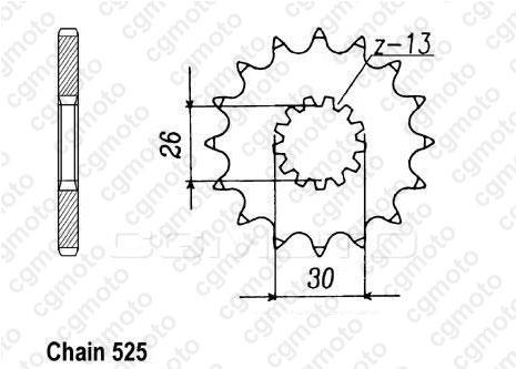 Kit chaîne moto pour TRIUMPH SPEEDMASTER 800 T908 2003