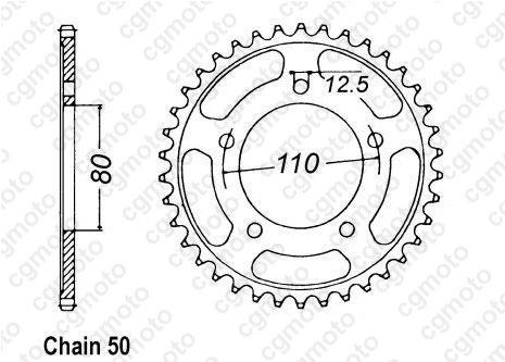 Kit chaîne moto pour TRIUMPH TRIDENT 900 T338 1993