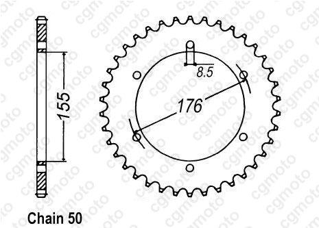Kit chaîne moto pour TRIUMPH SPEED TRIPLE 955 I T509 2001