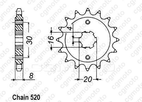 Kit chaîne moto pour HUSQVARNA CR 125 CROSS 1991