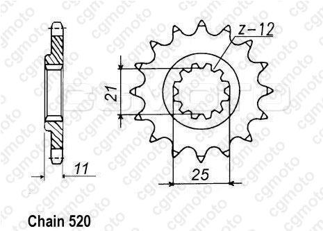 Kit chaîne moto pour HUSQVARNA TC 610 CROSS 1997