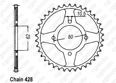 Kit chaîne moto pour YAMAHA TT-R 125 E PETITES ROUES