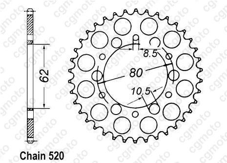 Kit chaîne moto pour YAMAHA XT 250 3Y3 4Y1 1983