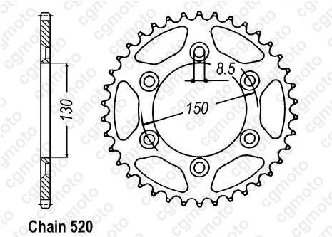 Kit chaîne moto pour YAMAHA WR-F 400 CH02W 2000