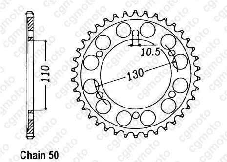 Kit chaîne moto pour YAMAHA FZ1 1000 FAZER N/S 2D1 3C3 2007