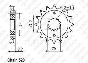Kit chaîne moto pour SUZUKI GSX-R 750 GR7DD 1999
