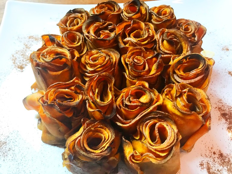 KitchAnnette Spicy Sweet Potato Roses bouquet