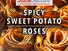 KitchAnnette Spicy Sweet Potato Roses featured shot