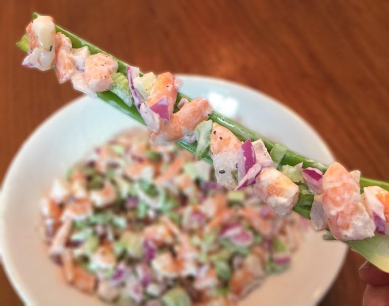 KitchAnnette Shrimp Salad Celery
