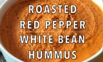 KitchAnnette Red Pepper White Bean Hummus Feature Shot