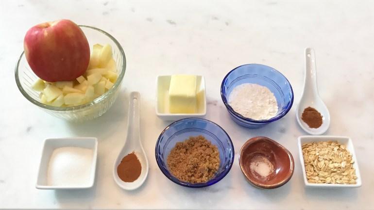KitchAnnette TV Dinner Apple Crisp Ingredients