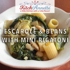 KitchAnnette Escarole Beans FEATURE