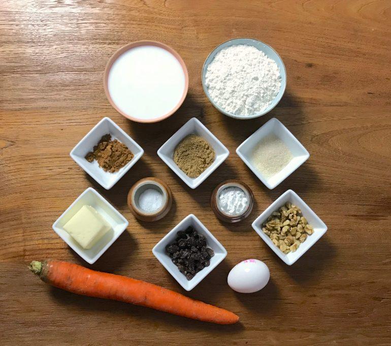 KitchAnnette Carrot Pancake Ingr