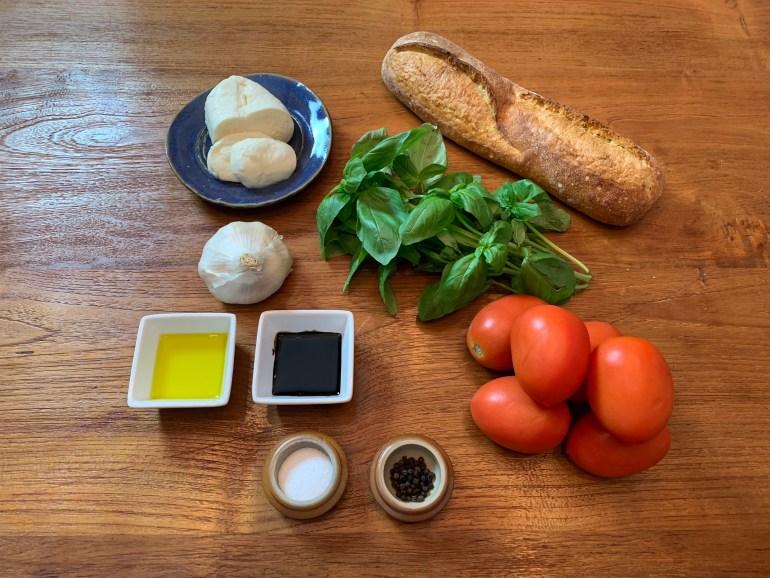 KitchAnnette Bruschetta Ingredients