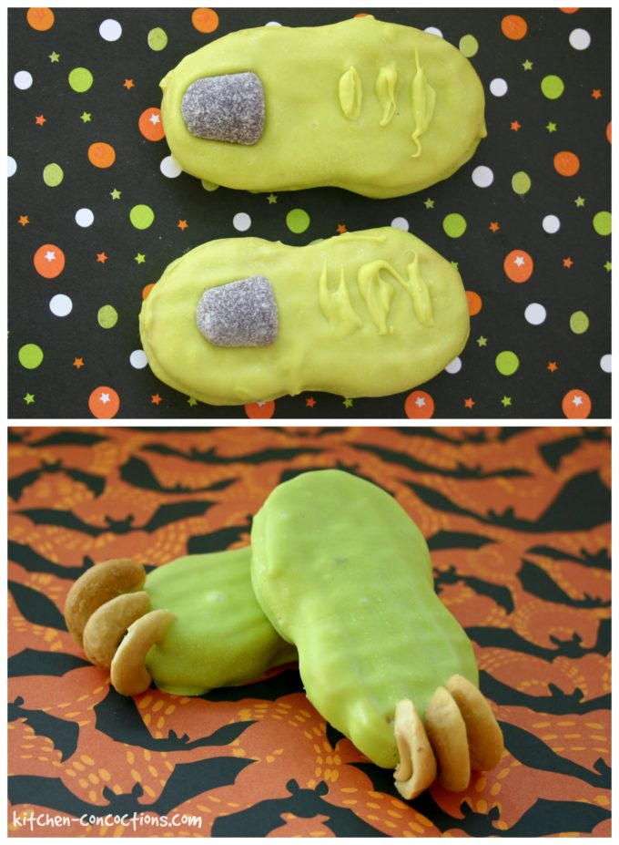 Goblin Feet Cookies and Witch Finger Cookies