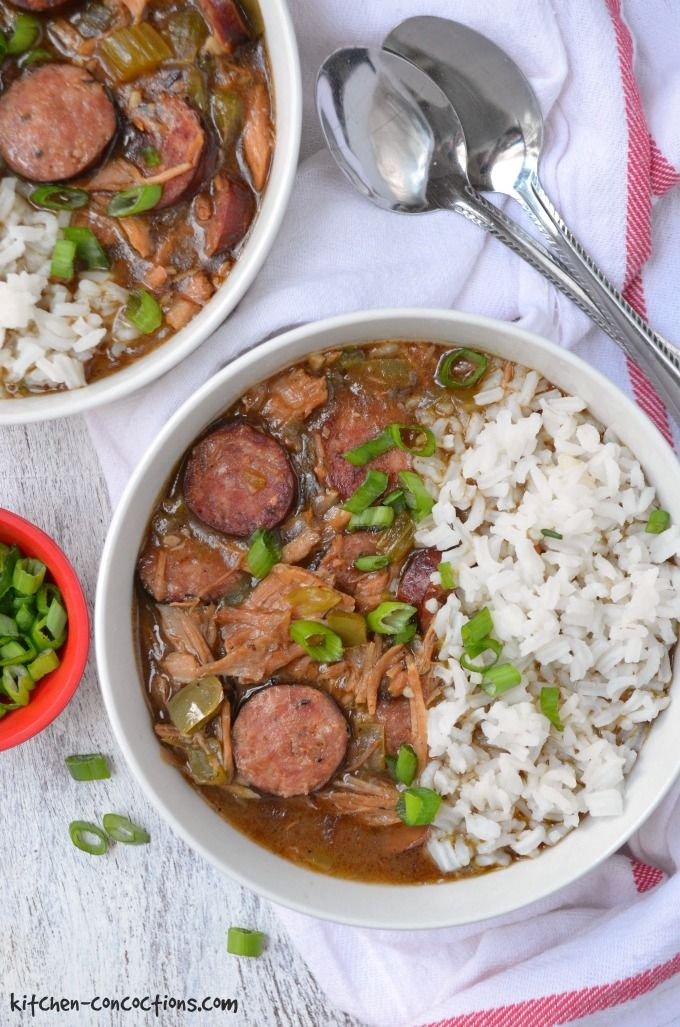 Looking for an easy and authentic gumbo recipe? This Smoked Turkey and Sausage Gumbo is a family tradition and uses leftover Thanksgiving turkey or smoked turkey from our favorite local barbecue spot! We also make this Cajun style soup for various holiday dinners, including Christmas and Mardi Gras!