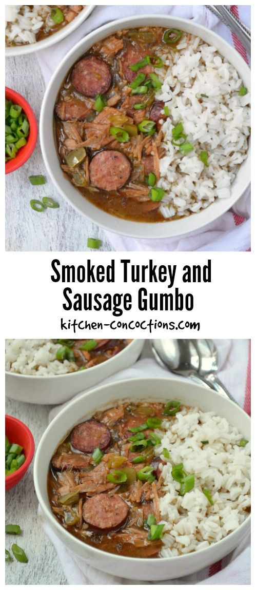 Looking for an easy and authentic gumbo recipe? ThisSmoked Turkey and Sausage Gumbo is a family tradition and uses leftover Thanksgiving turkey orsmoked turkey from our favorite local barbecue spot!We also make this Cajun style soup for various holiday dinners, including Christmas and Mardi Gras!