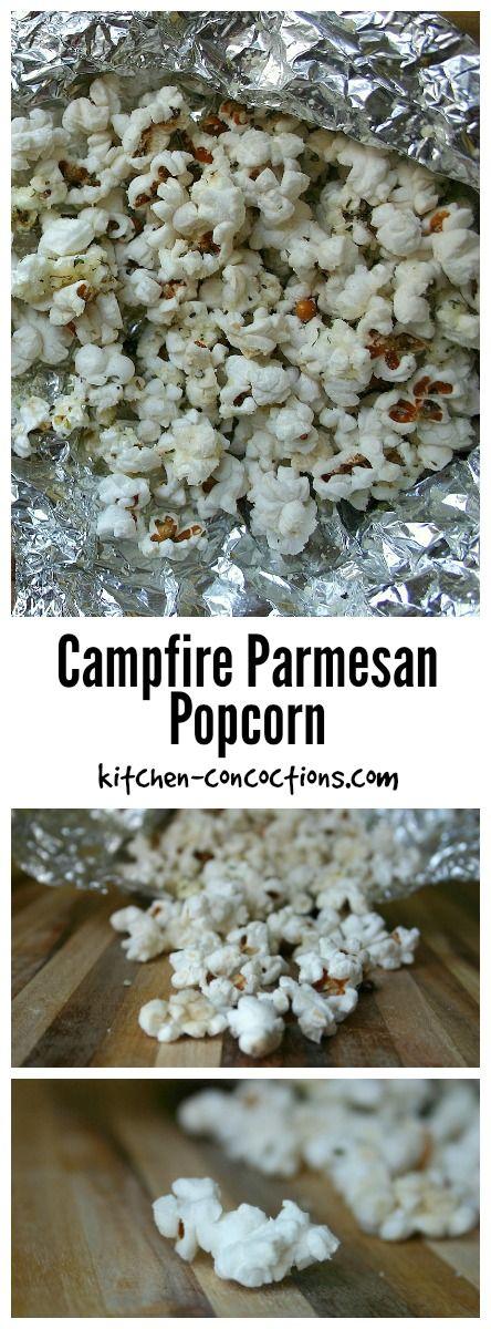 Campfire Parmesan Popcorn