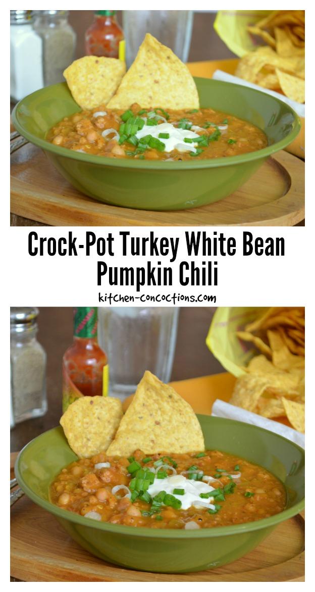 Crock-Pot Turkey White Bean Pumpkin Chili