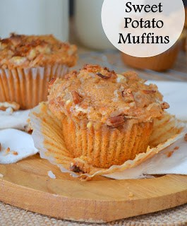Loaded Sweet Potato Muffins