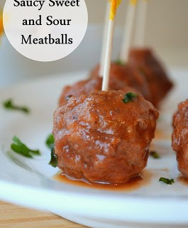 Saucy Sweet and Sour Meatballs