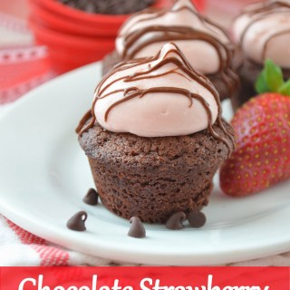 Chocolate Strawberry Brownie Kisses