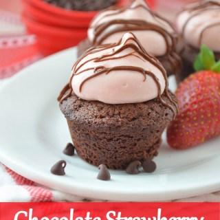 Chocolate Strawberry Brownie Kisses