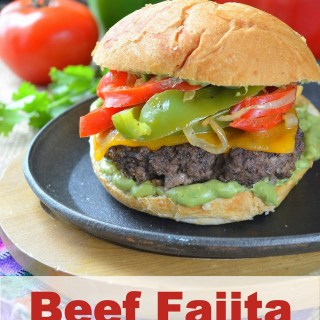 Beef Fajita Burgers with Creamy Avocado Ranch Spread