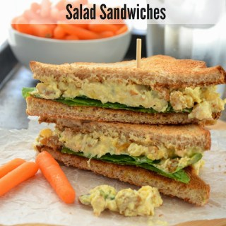 Green Curry Mashed Chickpea Salad Sandwiches