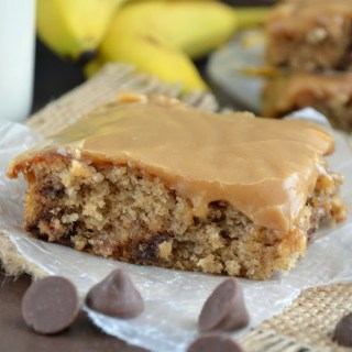 Peanut Butter Banana Bread Bars