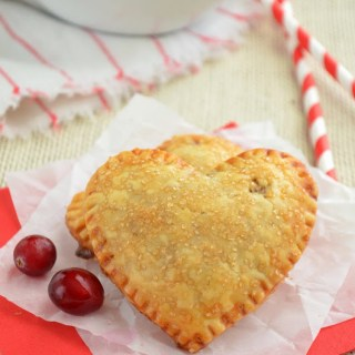 Mini Heart Shaped Cranberry Hand Pies